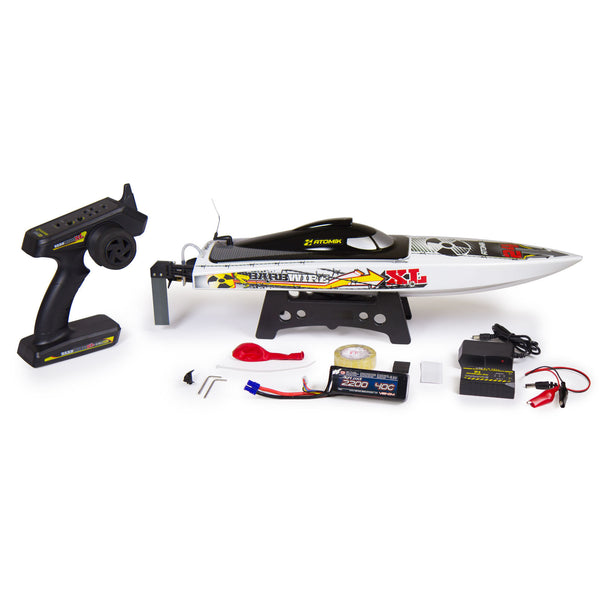 "BARBWIRE XL 24"" RTR BRUSHLESS RC RACE BOAT - SELF RIGHTING V HULL DESIGN - Red Rocket Hobby Shop - 1"