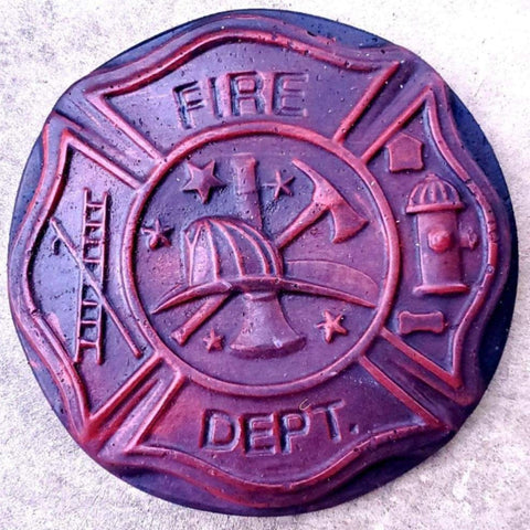 Fire Department Fireman Firemen Concrete Stone Stepping Stone Keepsake Stone Breast milk Stepping Stone Breastmilk Stepping stone