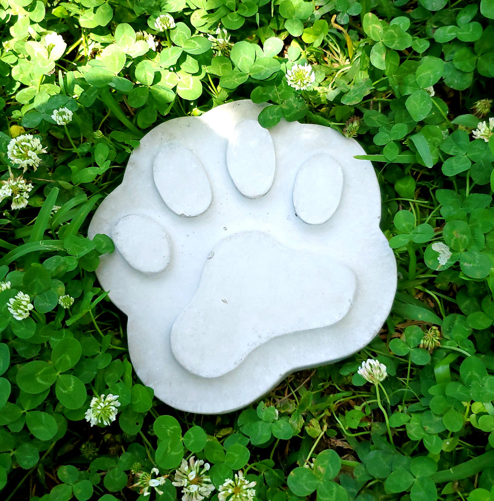 Concrete Statue - Paw Print Stepping Stone