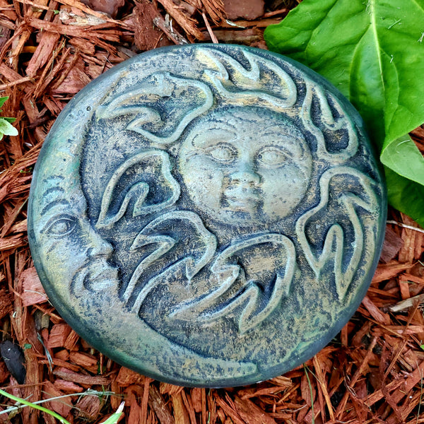 Concrete Statue - Sun and Moon Stepping Stone