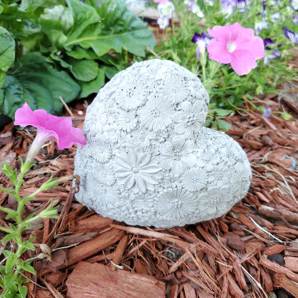 Concrete Statue - Flower Heart