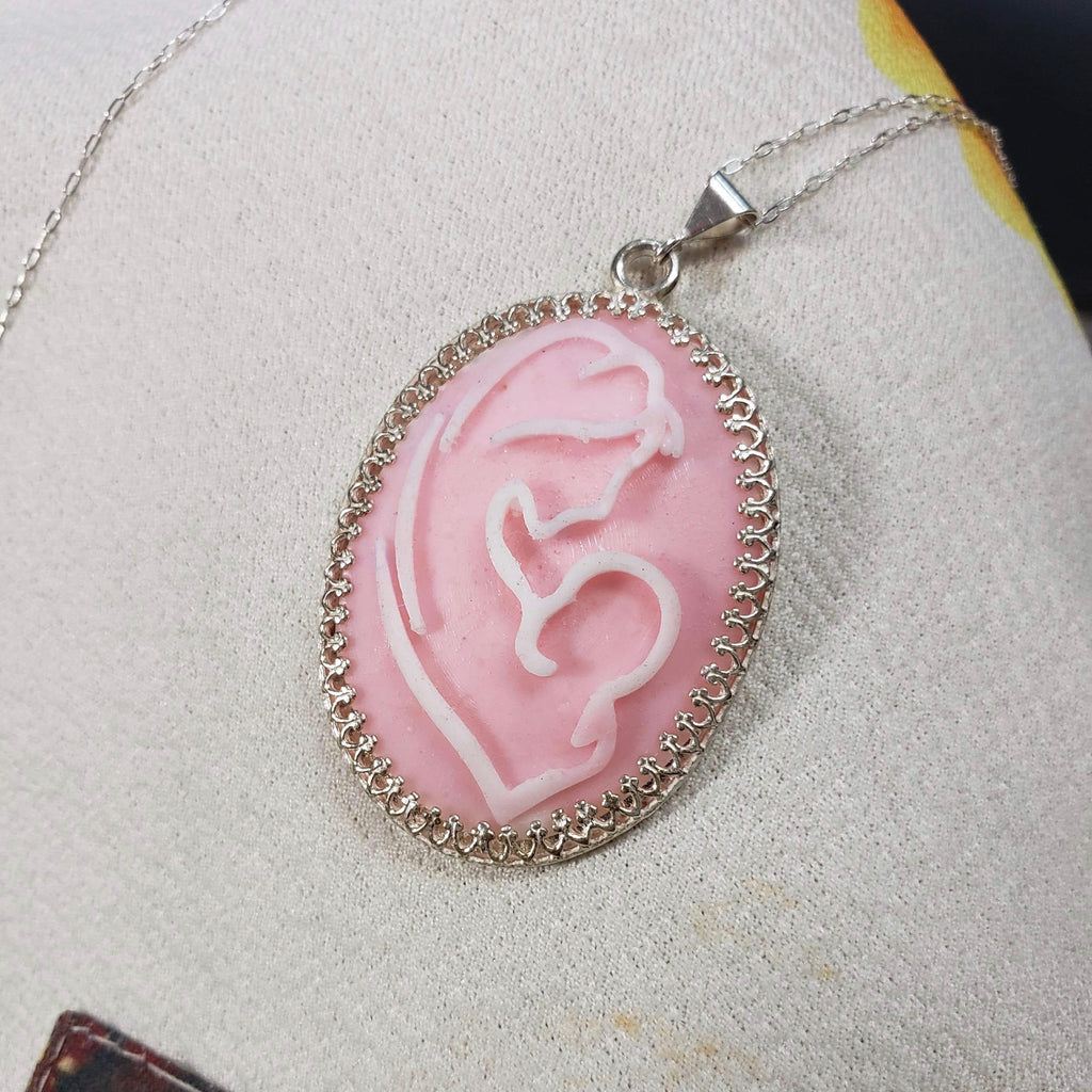 Nursing Mother and Infant Cameo Necklace