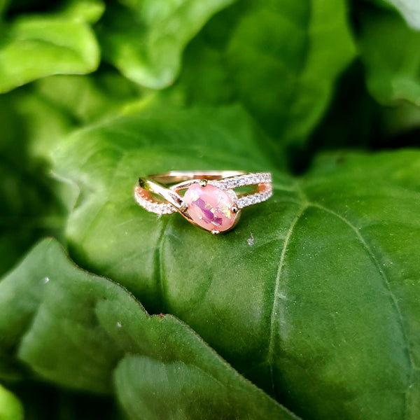 The Zoli - Oval Vermeil Rose Gold Ring
