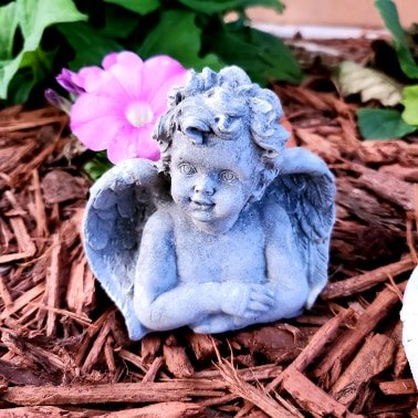 Angel Cherub Statue Stone Concrete Breast Milk Breastmilk Keepsake Statue Concrete Keepsake