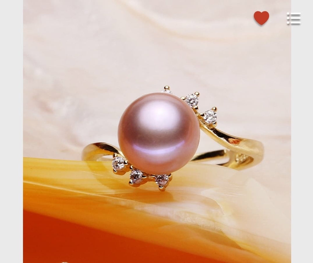 Pearl Adjustable Ring