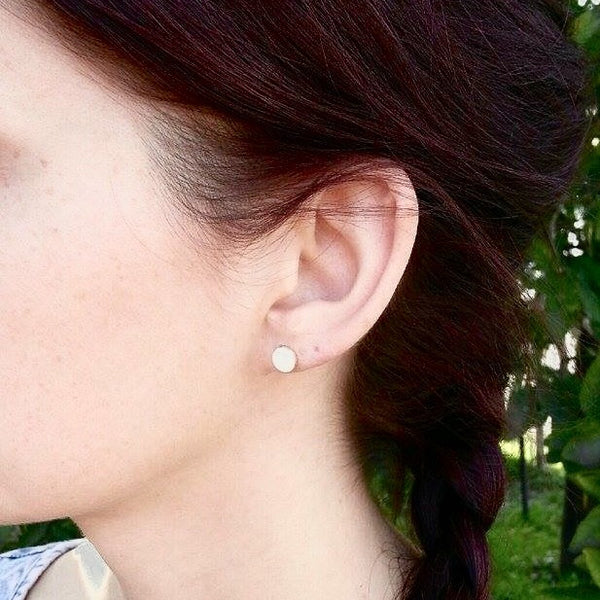 Simple Bezel Earrings