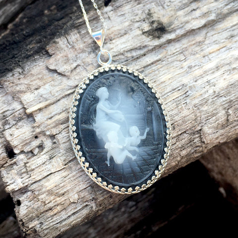 Family Cameo Necklace
