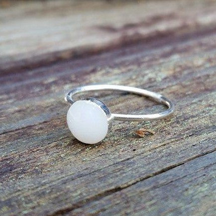 Stainless Steel Simple Bezel Ring - 6 mm