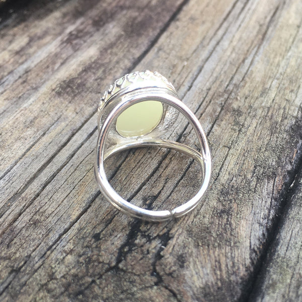 Oval Crown Ring - Vermeil Yellow Gold
