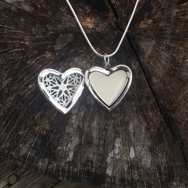 Breast milk necklace - heart locket - Sterling silver 925 breastmilk jewelry