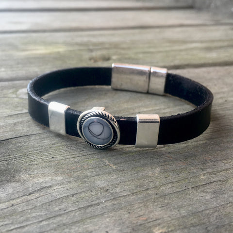 Leather Bezel Bracelet
