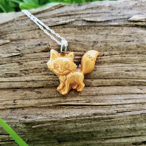Standing Fox Necklace