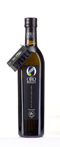 Oro Bailen Family Reserve Gift Pack- Award Winning Cold Pressed EVOO Extra Virgin Olive Oil, 2011-2012 Harvest, 17-Ounce Glass Bottle