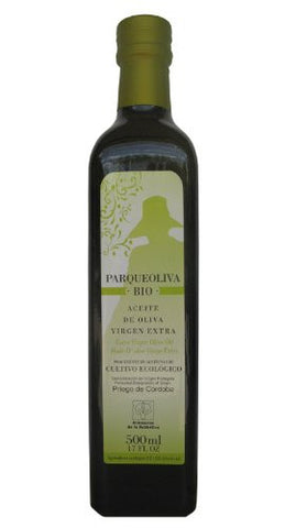 ParqueOliva Bio- Organic Cold Pressed EVOO Extra Virgin Olive Oil, 17-Ounce Glass Bottle