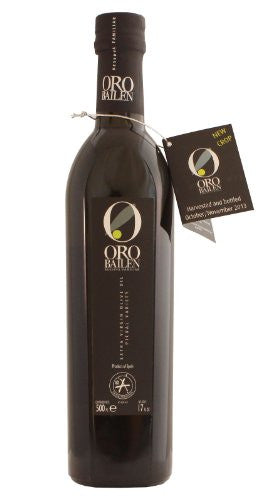 Oro Bailen Family Reserve - Award Winning Cold Pressed EVOO Extra Virgin Olive Oil, 17-Ounce Glass Bottle