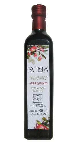 AlmaOliva Arbequino- Award Winning Cold Pressed Extra Virgin Olive Oil, 2011-2012 Harvest, 17-Ounce Glass Bottle