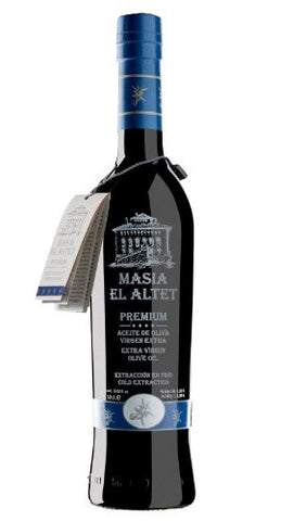 Masia el Altet Premium- Award Winning Cold Pressed EVOO Extra Virgin Olive Oil,  2016-2017 Harvest,17-Ounce Glass Bottle