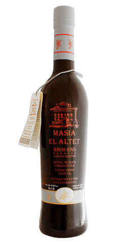 Masia el Altet Special High End- Award Winning Cold Pressed EVOO Extra Virgin Olive Oil, 2016-2017 Harvest, 17-Ounce Glass Bottle
