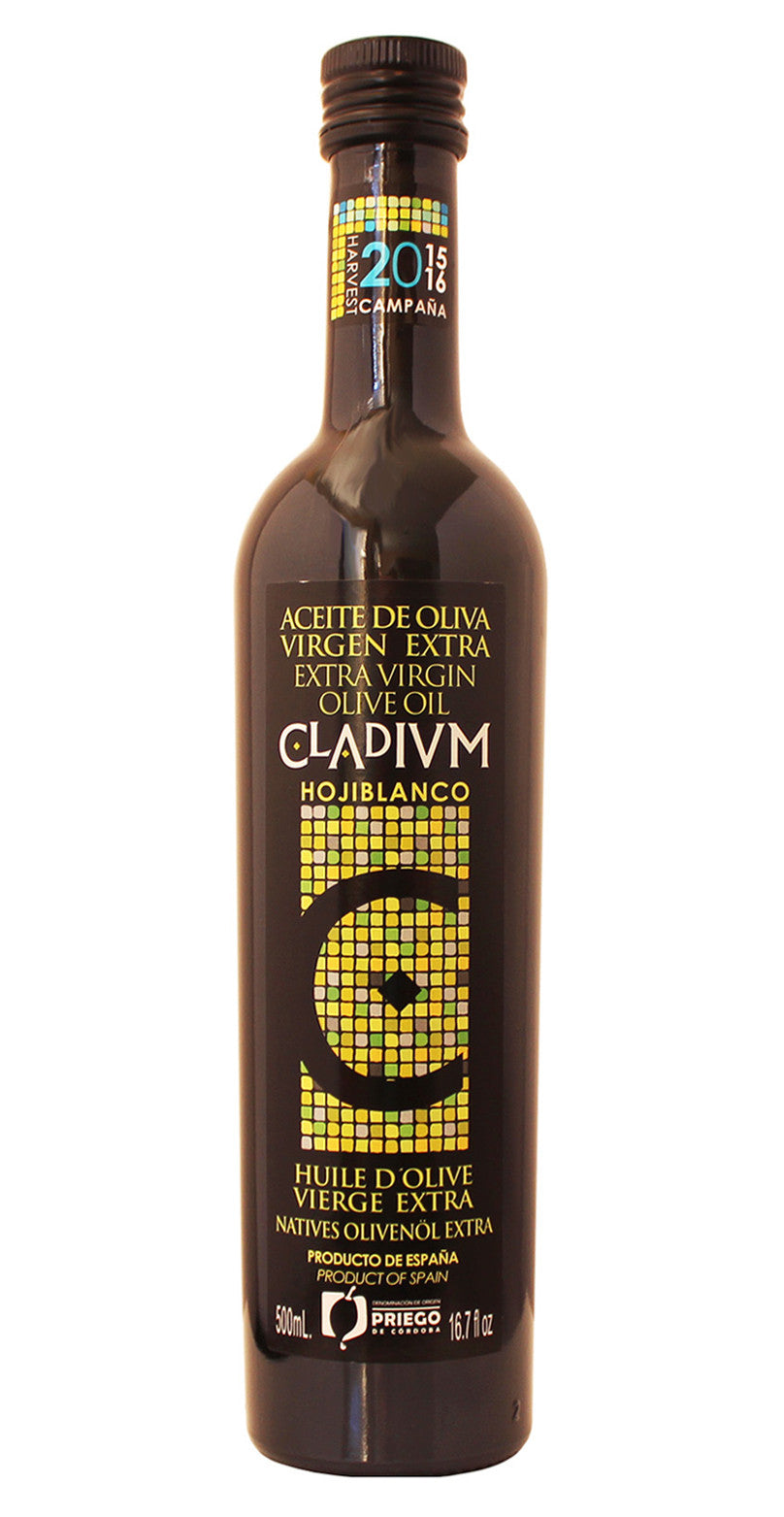 Special Selection -CLADIVM- Award Winning, Cold Pressed EVOO Extra Virgin Olive Oil, 2015-2016 Harvest, 17-Ounce glass Bottle