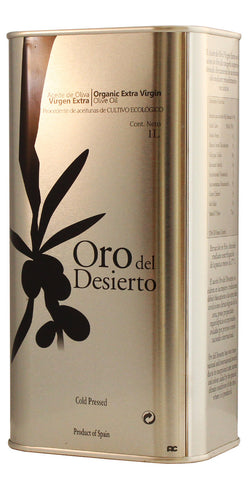 Oro del Desierto - Award Winning, Cold Pressed EVOO Extra Virgin Olive Oil, 2015-2016 Harvest, 33-Ounce Tin
