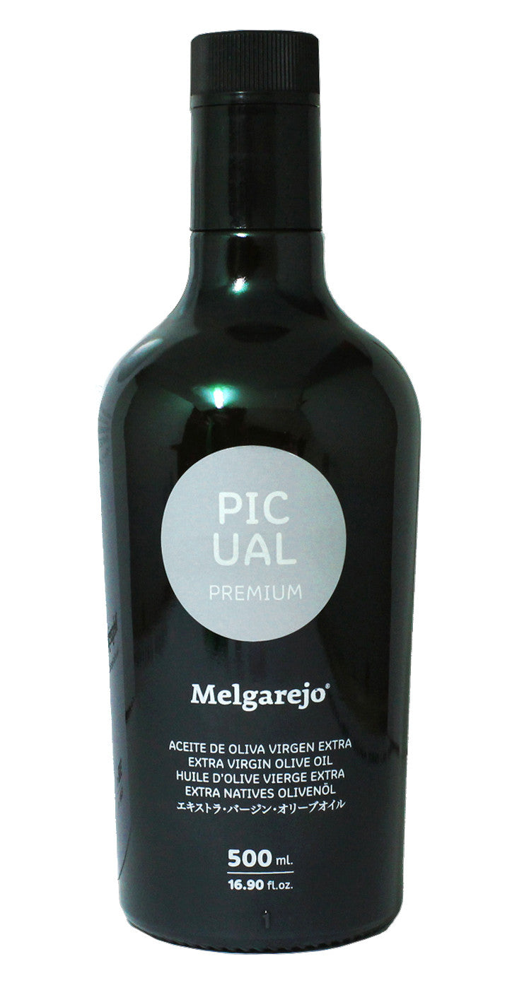 Melgarejo Picual Premium - Award Winning Cold Pressed EVOO Extra Virgin Olive Oil, 17-Ounce Glass bottle.2016-2017 Harvest