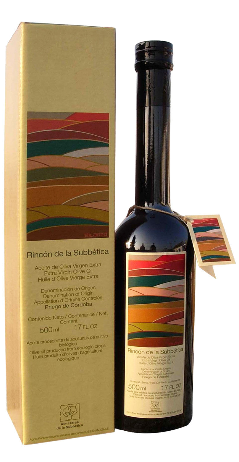 Rincon De La Subbetica- Award Winning, Organic Cold Pressed EVOO Extra Virgin Olive Oil,  2016-2017 Harvest,17-Ounce Glass Bottle