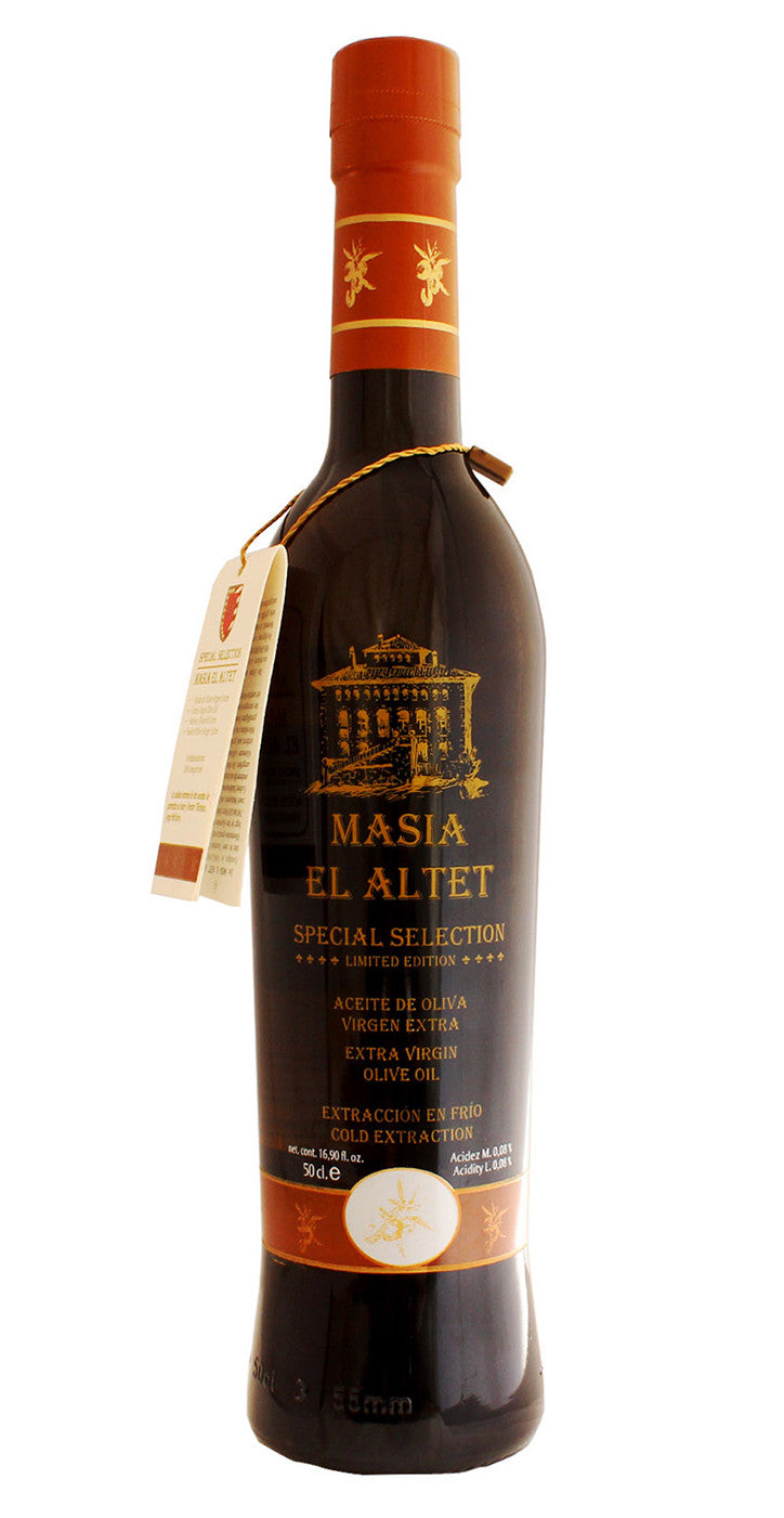 Masia el Altet Special Selection- Award Winning Cold Pressed EVOO Extra Virgin Olive Oil,  2016-2017 Harvest, 17-Ounce Glass Bottle