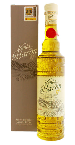 Venta del Baron - EVOO Extra Virgin Olive Oil, Award Winning Cold Pressed,  2016-2017 Harvest, 16.9 Ounces Bottle
