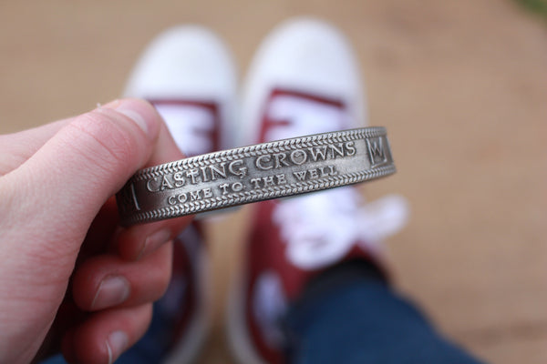 Come To The Well Pewter Bracelet - Casting Crowns Online Store