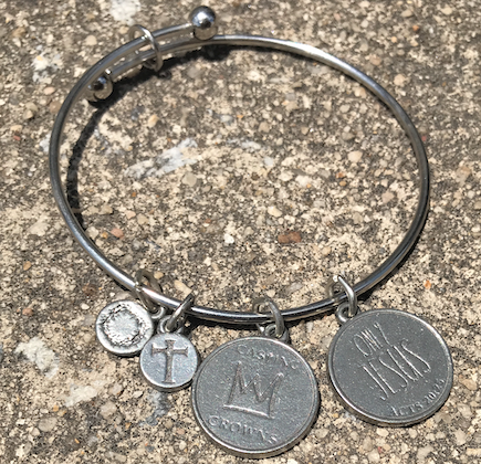 ONLY JESUS Charm Bangle Bracelet