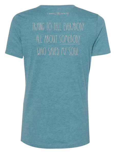 I'M JUST A NOBODY Relaxed Fit Teal Tee