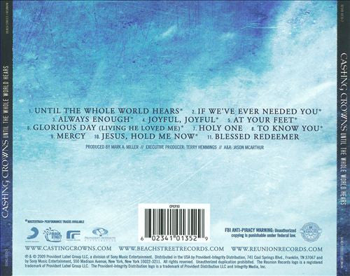 Until The Whole World Hears CD - Casting Crowns Online Store