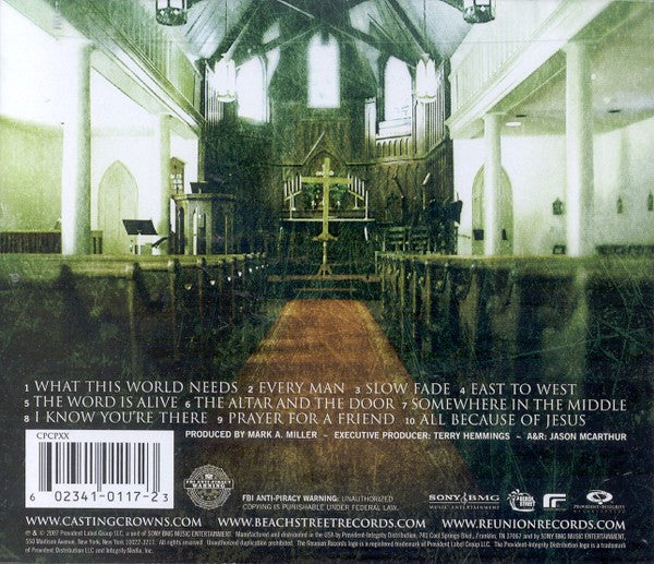 Altar and the Door CD - Casting Crowns Online Store
