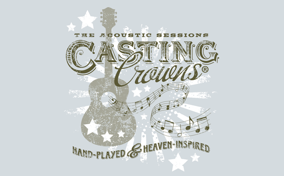 Ladies Acoustic Tour Mint Tee - Casting Crowns Online Store