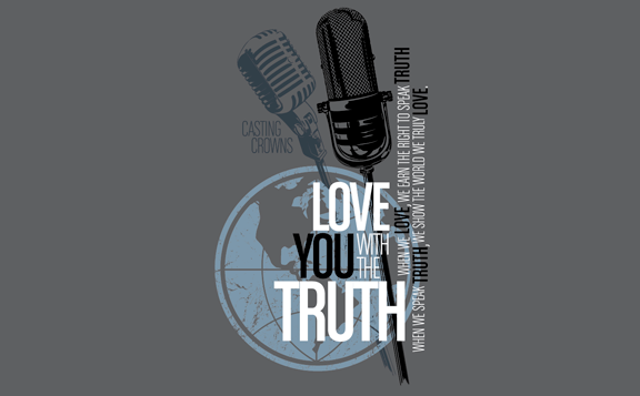 Love You With The Truth Charcoal Tee - Casting Crowns Online Store