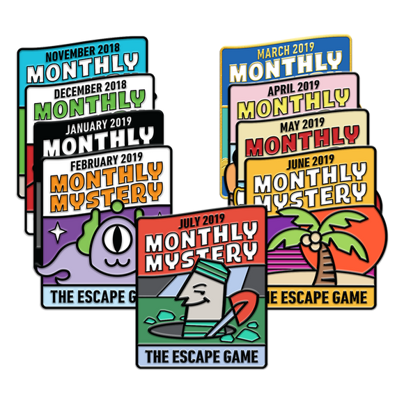 Monthly Mystery Pin Pack (Nov. '18 - July '19)