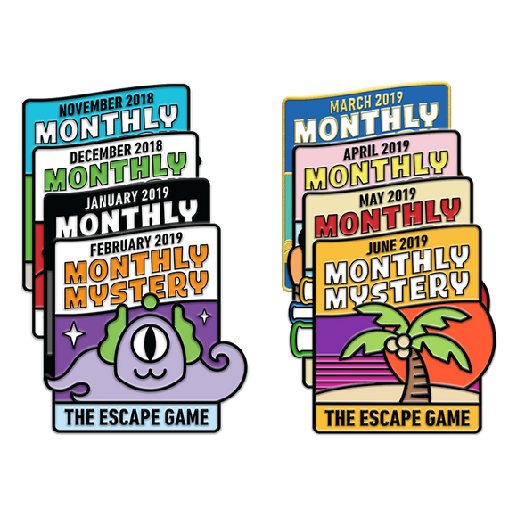 Monthly Mystery Pin Pack (Nov. '18 - June '19)