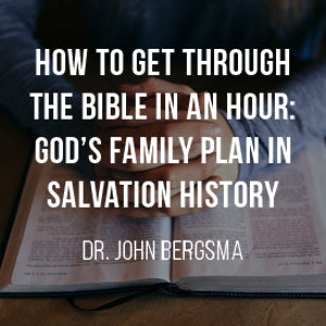 How to Get Through the Bible in an Hour: God's Family Plan in Salvation History