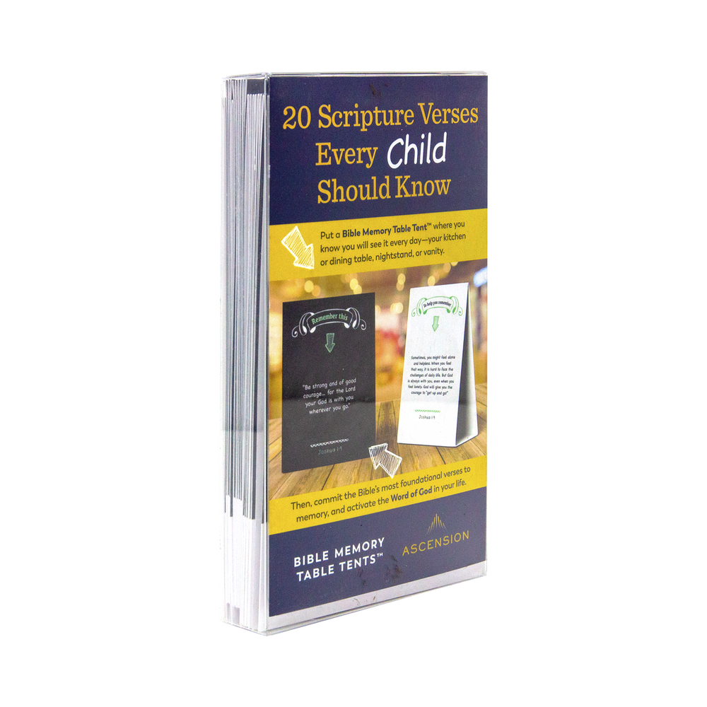 Bible Memory Table Tents for Children