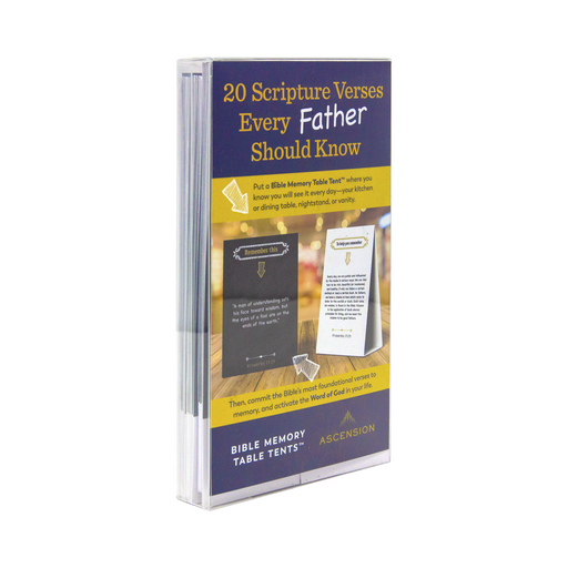 Bible Memory Table Tents for Fathers