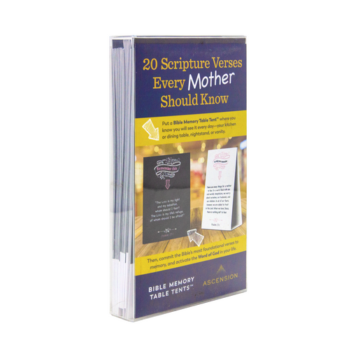 Bible Memory Table Tents for Mothers