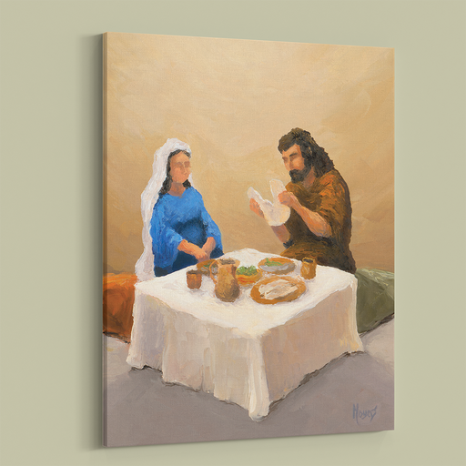 Rejoice! Fine Art Canvas Prints: Breaking Bread