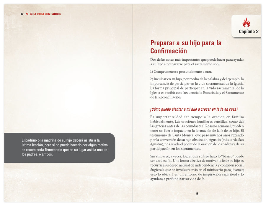 Chosen: Your Journey Toward Confirmation Parent's Guide (Spanish)