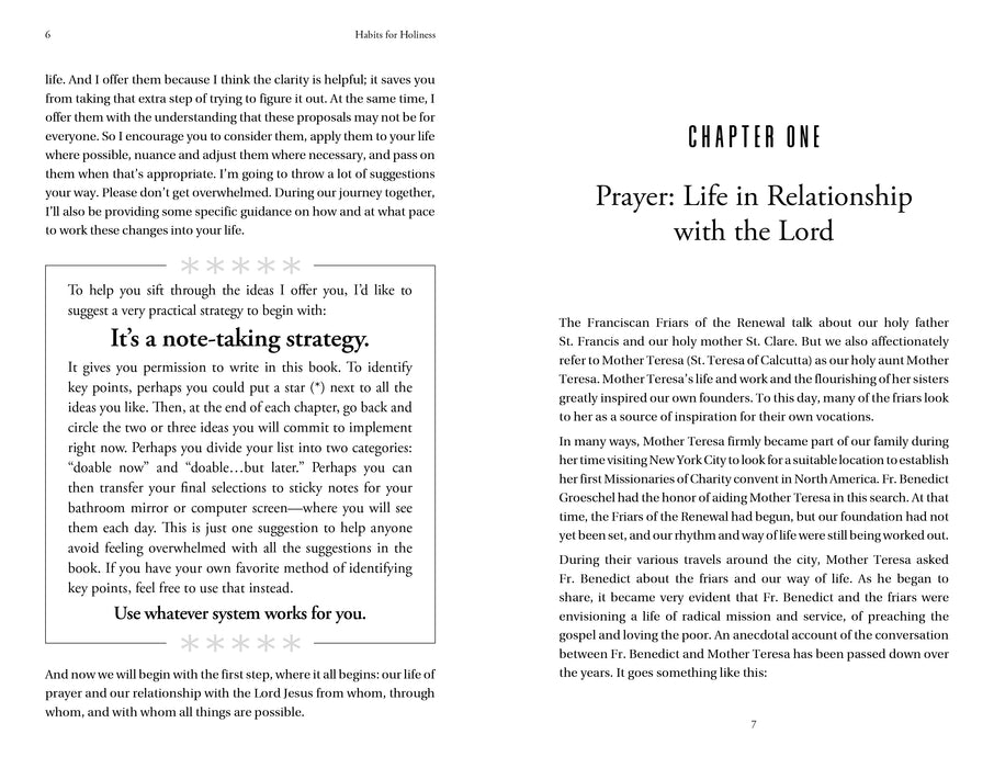 Chapter 1 introduction lay out for Habits for Holiness