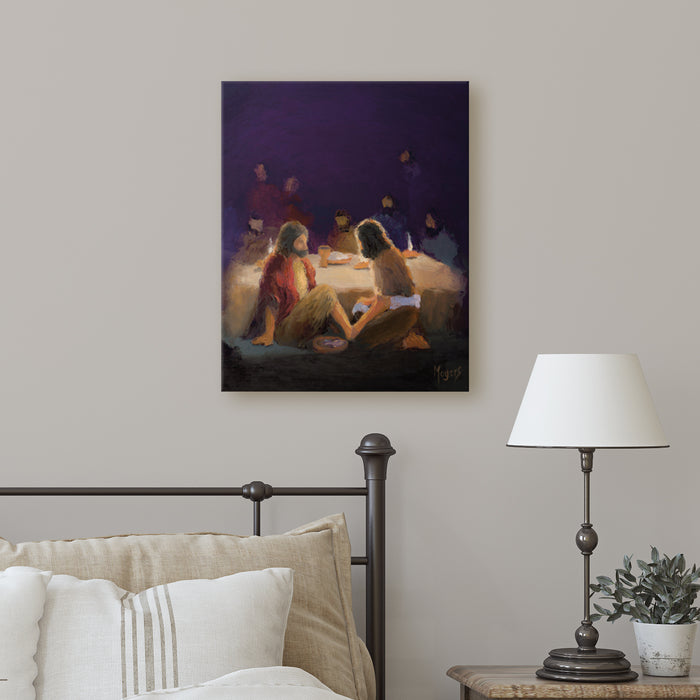 The Ascension Lenten Companion Fine Art Canvas Prints: He Washed Their Feet