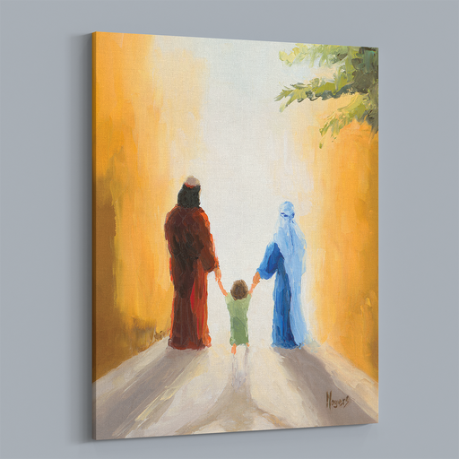 Rejoice! Fine Art Canvas Prints: Holy Family Walk