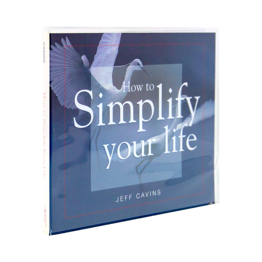 The cd case for How to Simplify Your Life by Jeff Cavins and Ascension. The cover features a beautiful white bird landing on water.