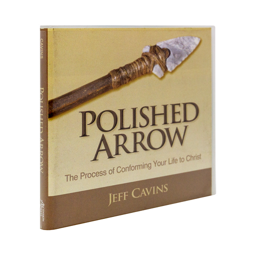 The cd case for Polished Arrow: The Process of Conforming Your Life to Christ by Jeff Cavins and Ascension, featuring an arrow on the cover.