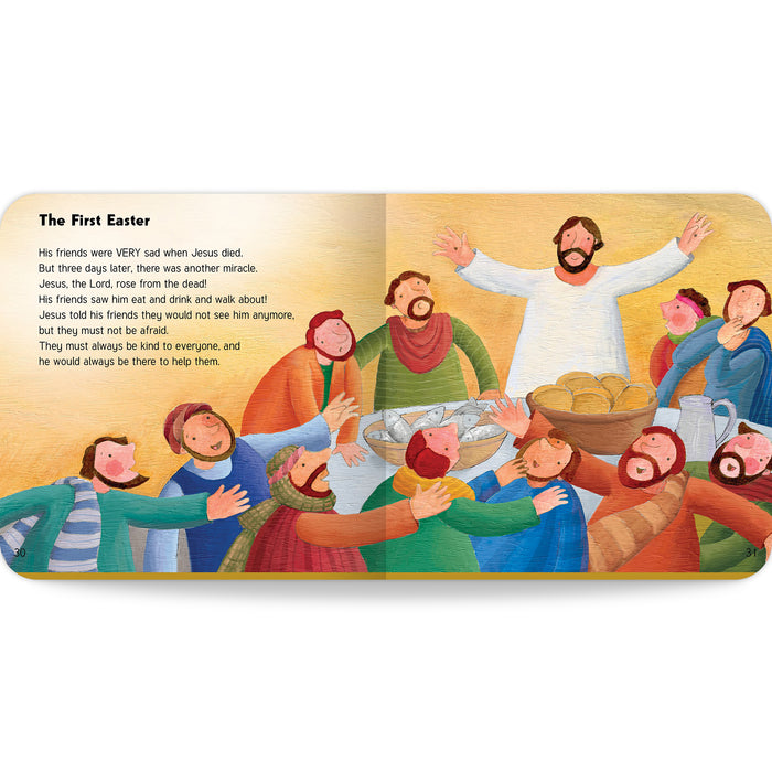 Image of the first Easter story in My First Catholic Bible Stories