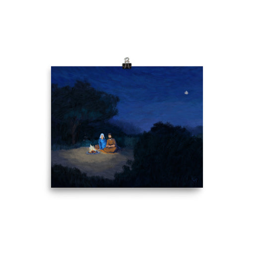 Rejoice! Art Prints: Holy Family at the Fireside